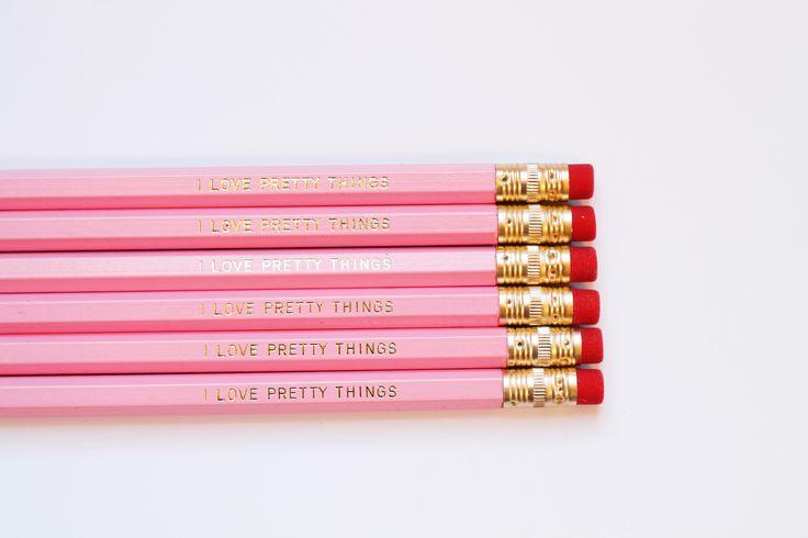 I Love Pretty Things Pencil Set