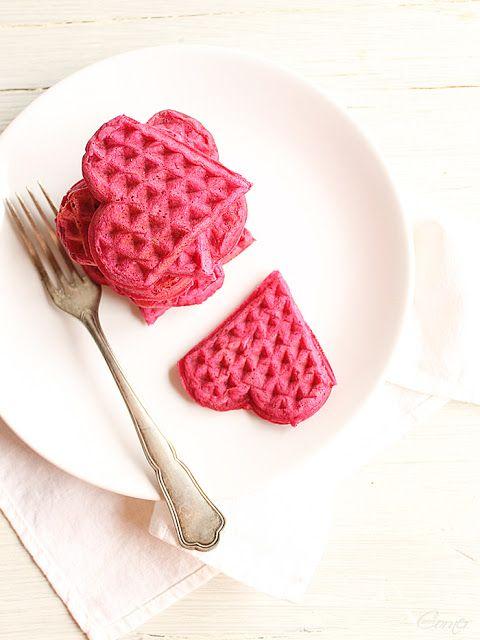 Heart Shaped Waffles - Valentines Day Ideas