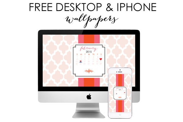 February Free Desktop Wallpaper & iPhone Screensaver