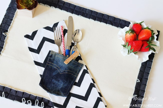 Simple Denim Placemat - Michaels Craft Store
