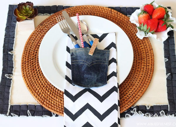 Denim Placemat With Pocket – Michaels Make Market Launch