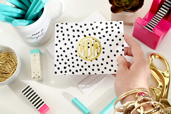 New Dalmation Monogram Note Cards by A Blissful Nest