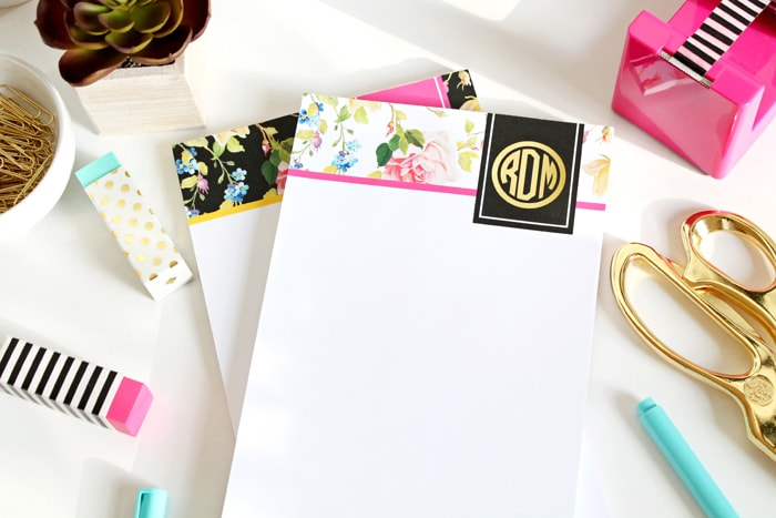 New Modern Floral Personalized Notepads by A Blissful Nest
