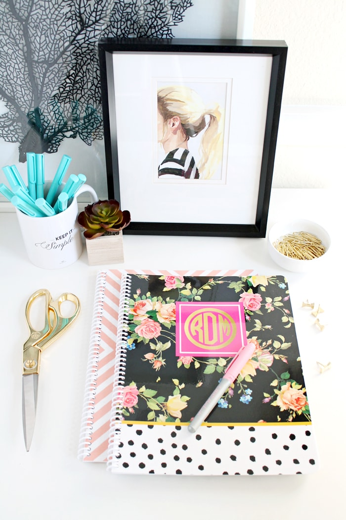 New Modern Floral Spiral Notebooks by A Blissful Nest