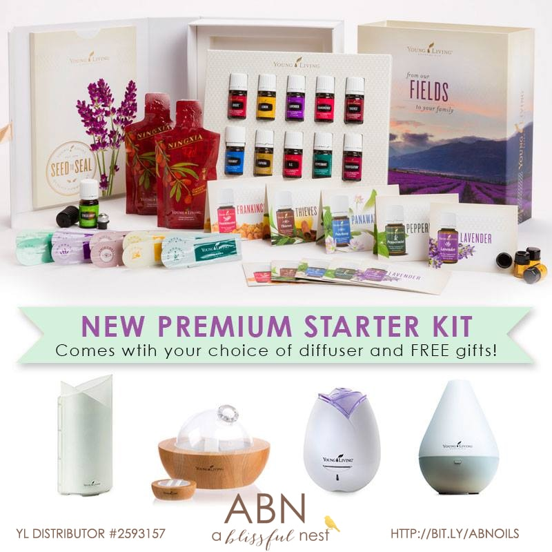 Young Living Essential Oil Premium Starter Kit via A Blissful Nest