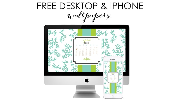 April Free Desktop & iPhone Wallpapers by A Blissful Nest