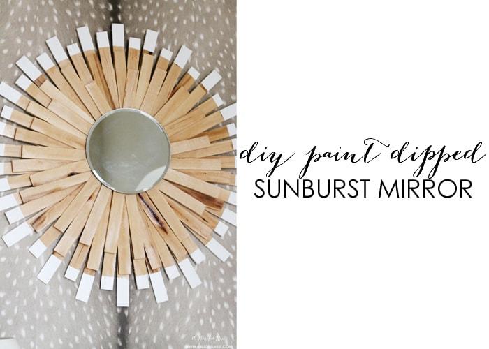 Paint Dipped Sunburst Mirror DIY Tutorial