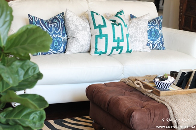 Decorating With Pillows by A Blissful Nest