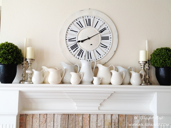 Fireplace Mantle by A Blissful Nest