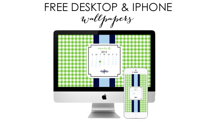 March Free Desktop & iPhone Wallpapers by A Blissful Nest