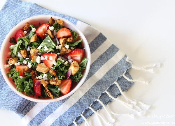 Strawberry Kale Salad Recipe