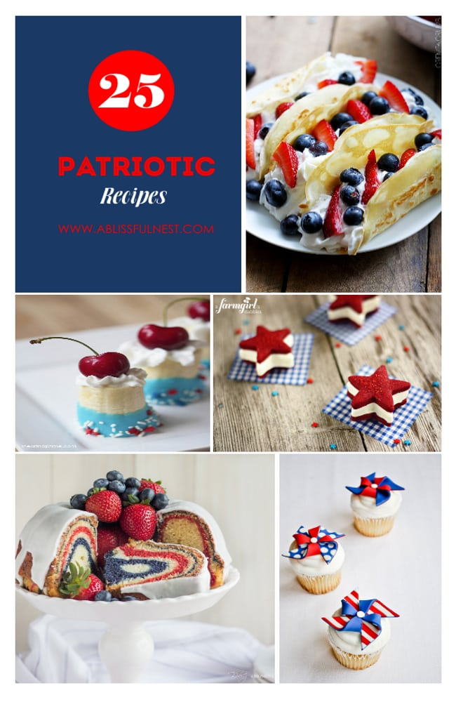 25 Patriotic Recipes via A Blissful Nest