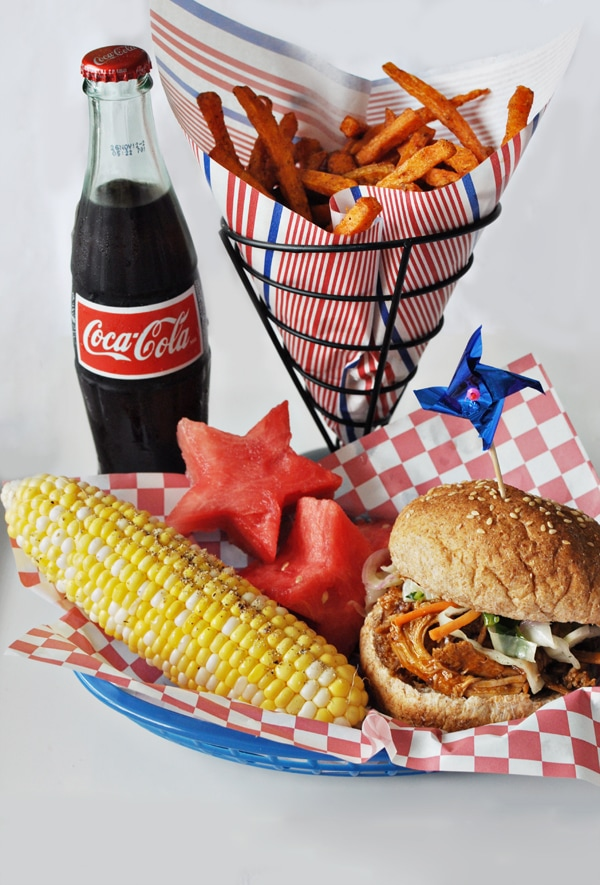 All American  BBQ, Fries, and Coca Cola Meal
