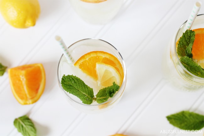 Orange Lemonade Punch Recipe by A Blissful Nest