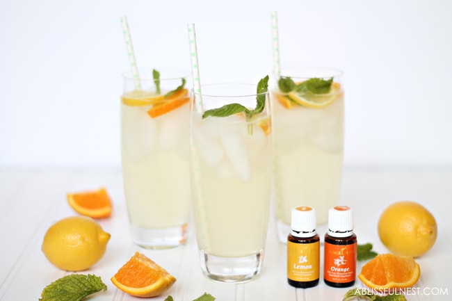 Orange Lemonade Punch Recipe with Essential Oils