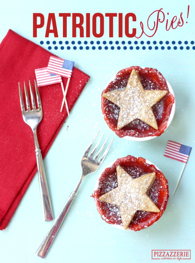 Patriotic Strawberry Pies