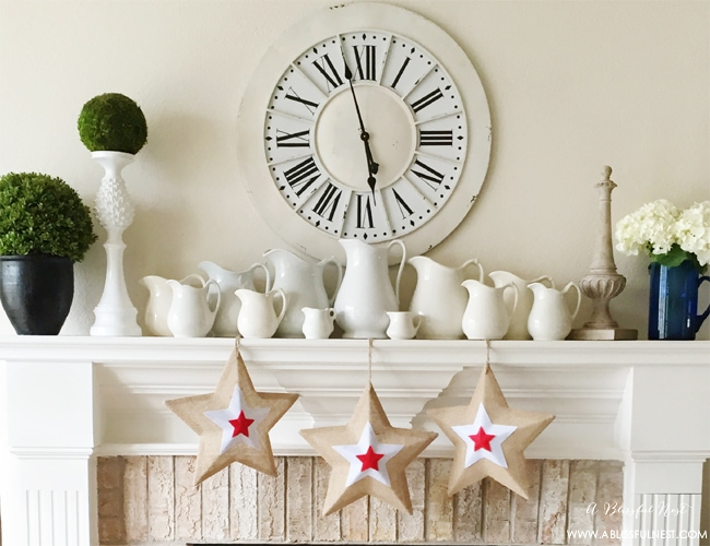 Red White and Blue Decorations For The Home