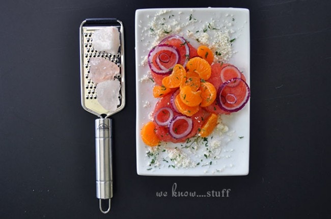 Watermelon Orange and Feta Salad