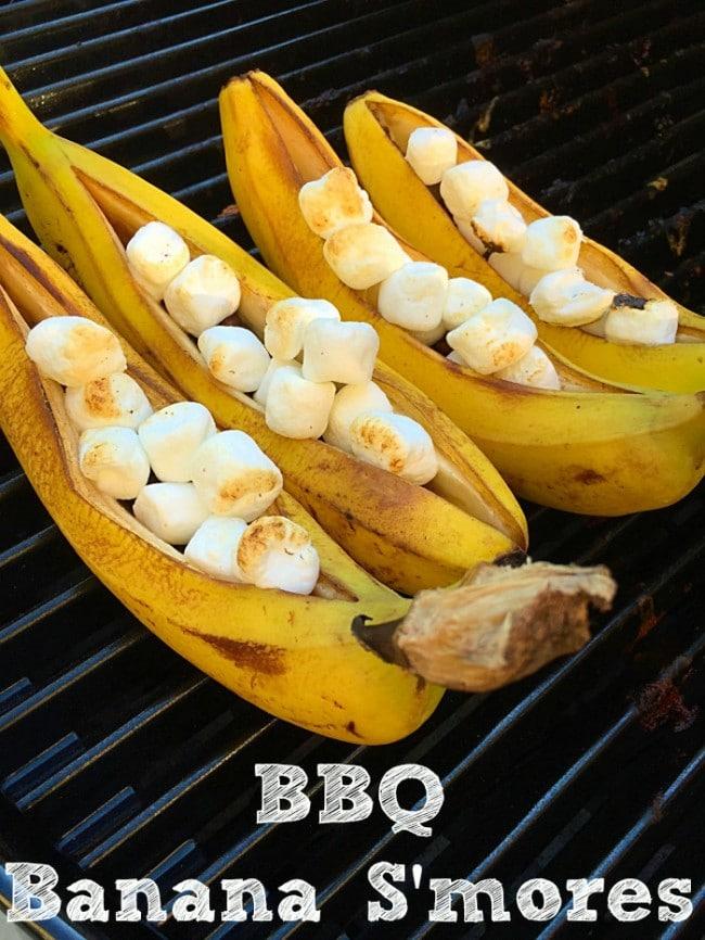 BBQ Banana Smores