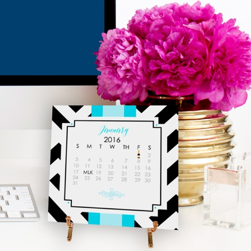2016 Desk Calendar with Easel by A Blissful Nest