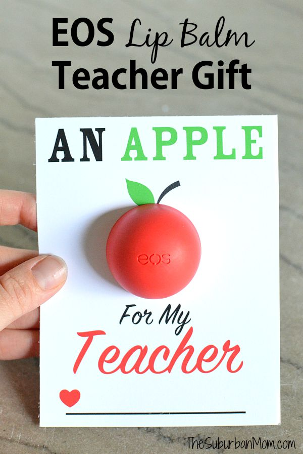 Apple for the Teacher EOS Printable