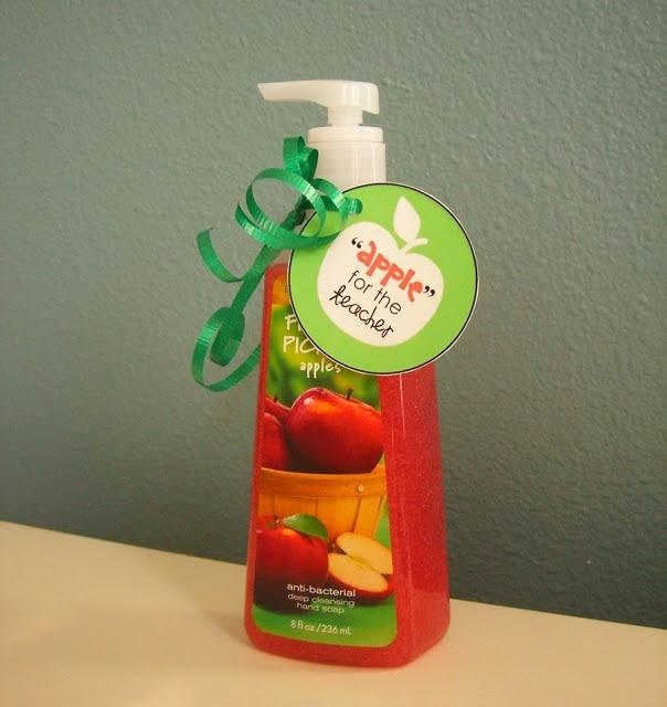 Apple for the Teacher Hand Soap Printable