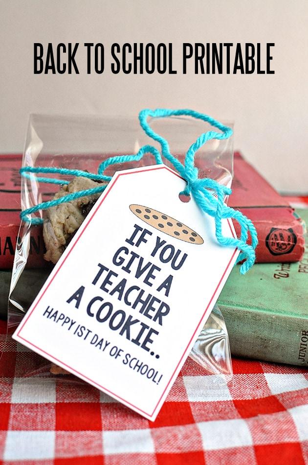Give a Teacher a Cookie Printable