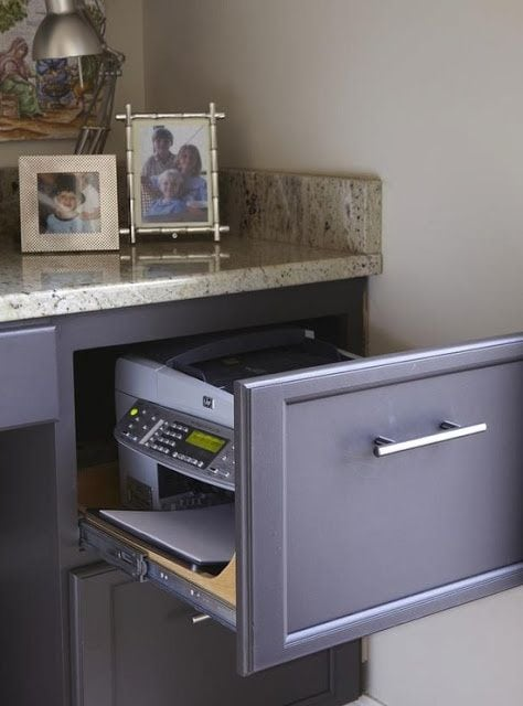 Have hidden storage for a small home office space