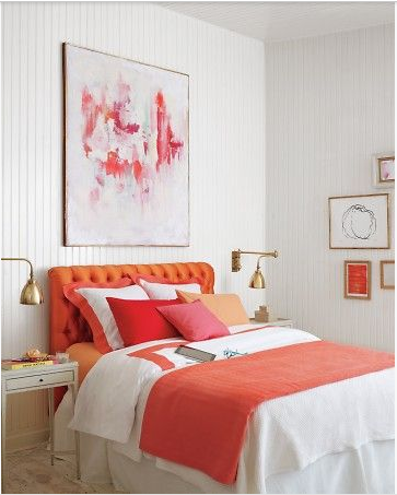 Use Colorful Art Above Your Bed For A Dramatic Effect In Your Room. More  Ideas