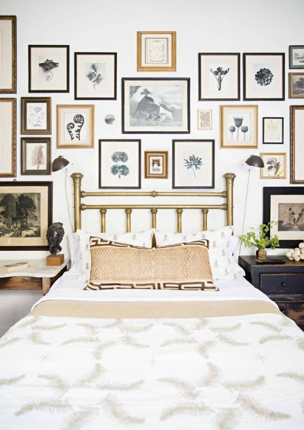 Make A Gallery Wall Behind The Bed For Focal Point