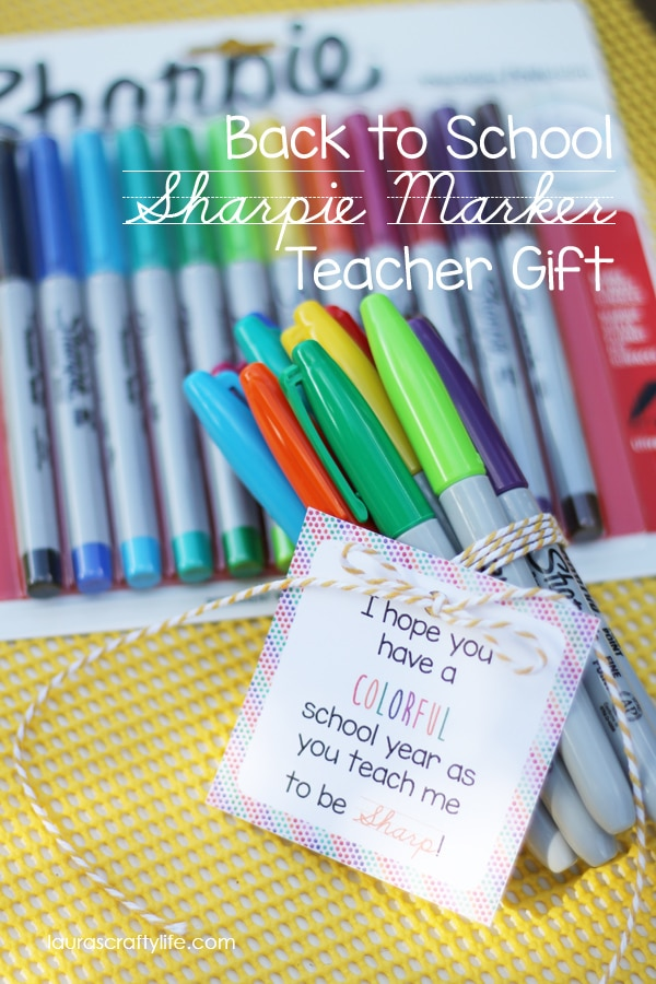 Sharpie Marker Teacher Gift