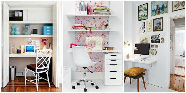 Small home office decorating ideas for Decorating small office space