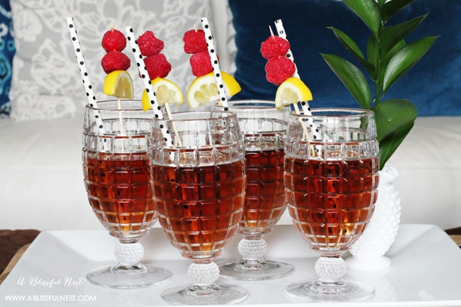 Spiked Raspberry Iced Tea Recipe
