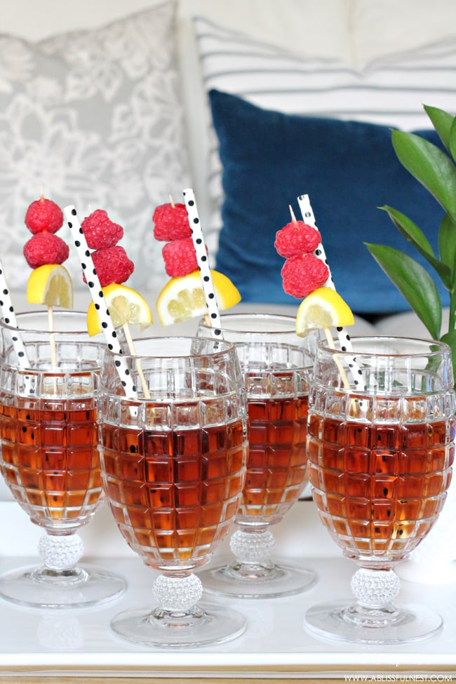 Spiked Raspberry Iced Tea by A Blissful Nest