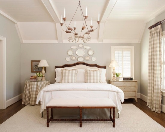 white-plates-above-bed