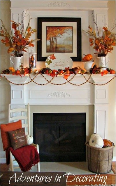 25 Inspiring Fall Mantel Decorating Ideas A Blissful Nest