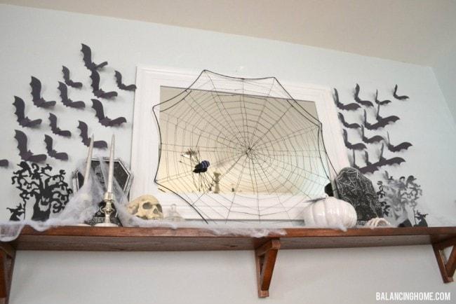 Balancing Home Halloween Mantel