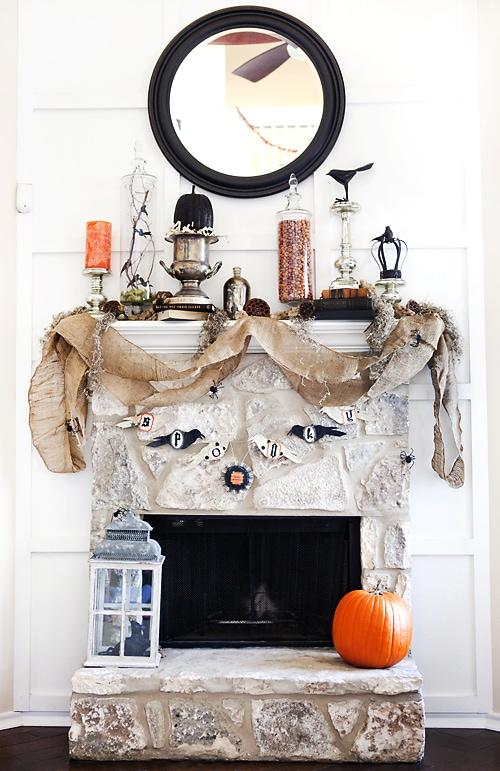 Candace Stringham Halloween Mantel