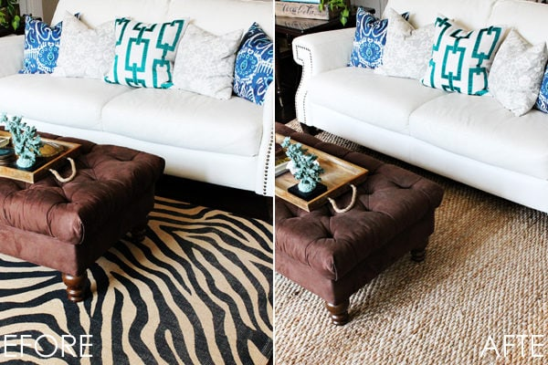 Design Tip – The Difference A Rug Makes & A Giveaway