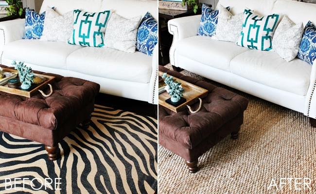 Changing out a rug can make all the difference in the world!