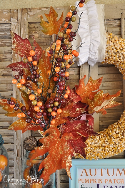 Cherished Bliss DIY Popcorn Kernal Fall Wreath