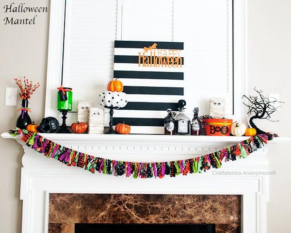 Craftaholics Anonymous Colorful Halloween Mantel