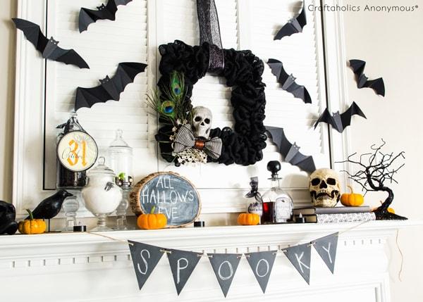 Craftaholics Anonymous Halloween Mantel