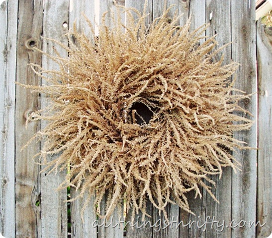 DIY Corn Husk Wreath All Things Thrifty
