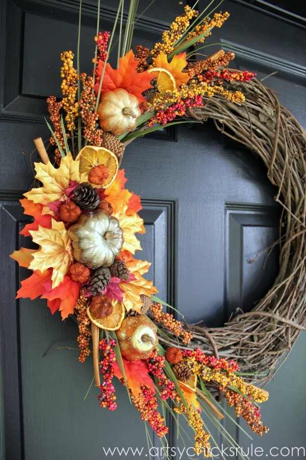 DIY Fall Wreath Artsy Chicks Rule