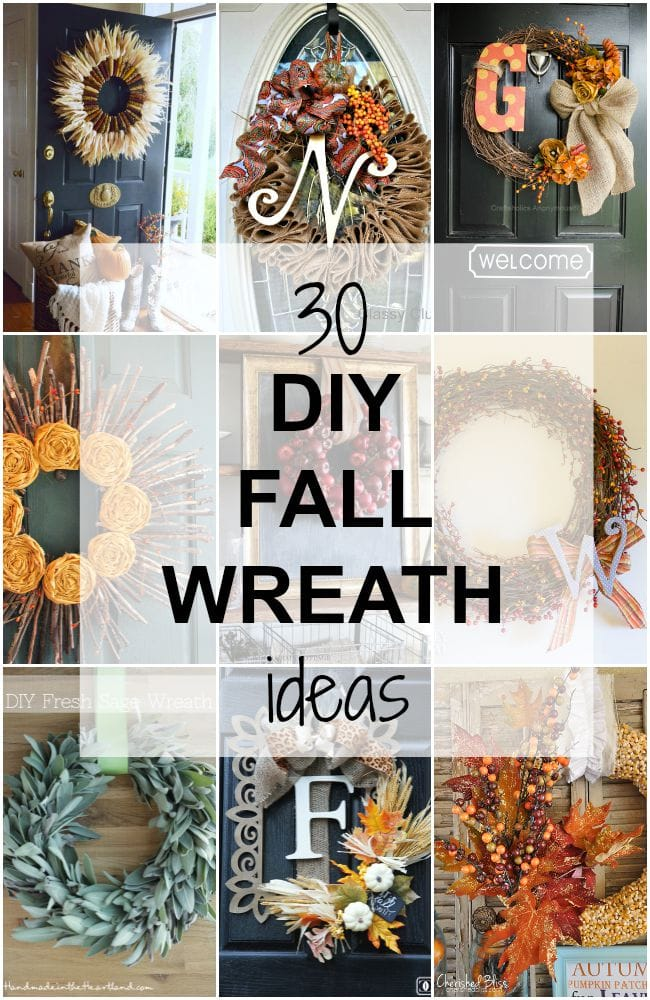 DIY Fall Wreath Ideas Collage