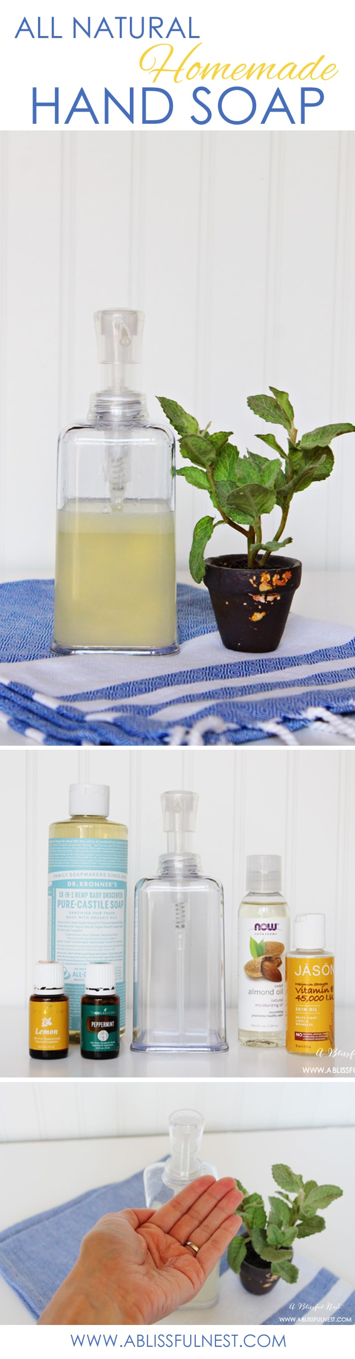 DIY Homemade Liquid Hand Soap by A Blissful Nest