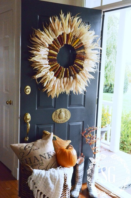 DIY Indian Corn Wreath Stonegable Blog
