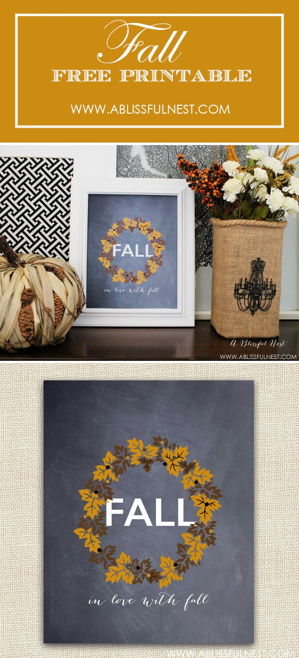 Fall Free Printable by A Blissful Nest