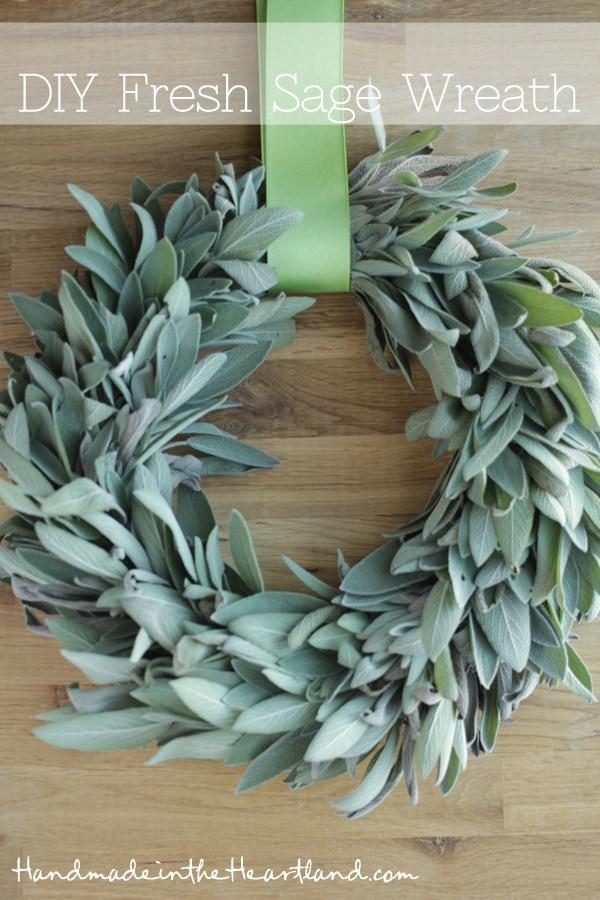 Handmade in the Heartland DIY Fresh Sage Wreath